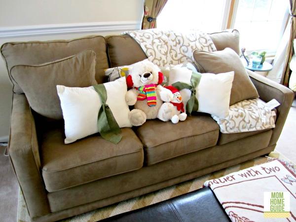 winter living room sofa