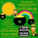 Luck of the Irish Giveaway!