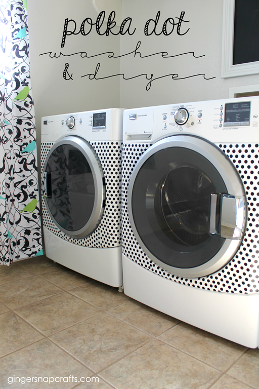 Polka Dot Washer and Dryer by Ginger Snap Crafts