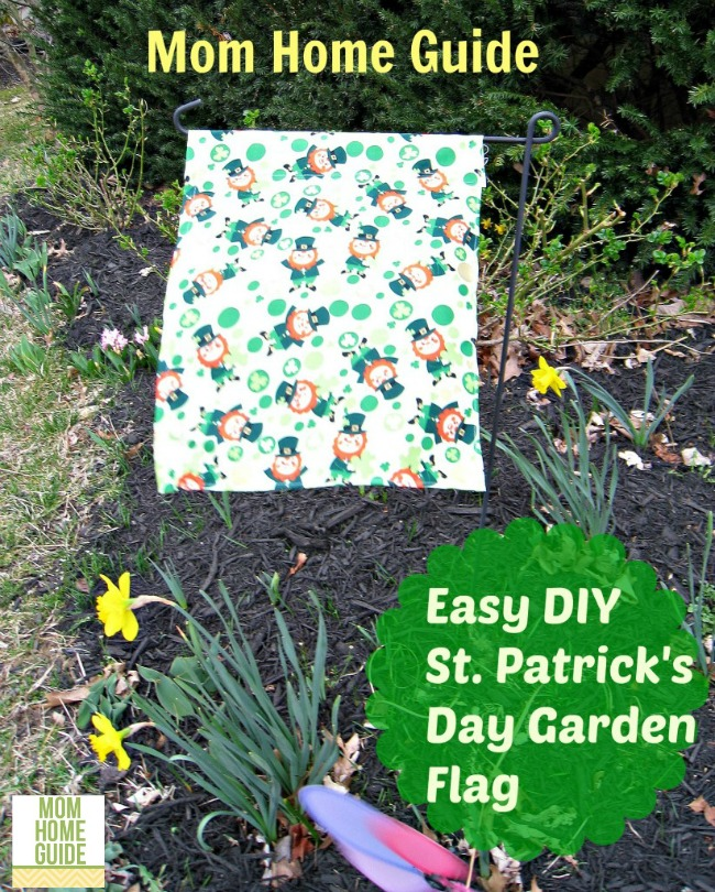 DIY St. Patrick's Day Garden flag