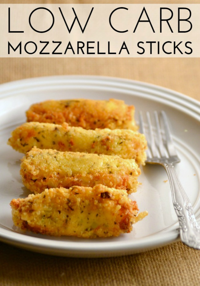 low carb, mozzarella sticks, recipe
