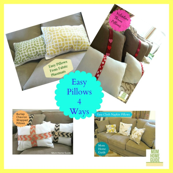 how to make easy throw pillows