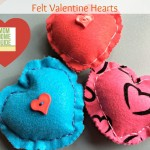 Simple Valentine Felt Hearts