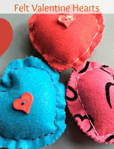 felt valentine hearts