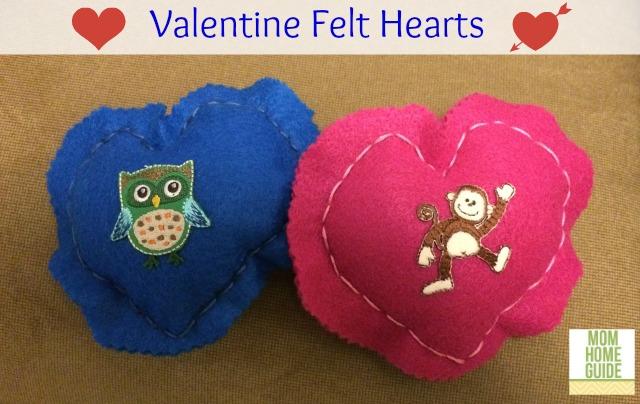 valentine felt hearts