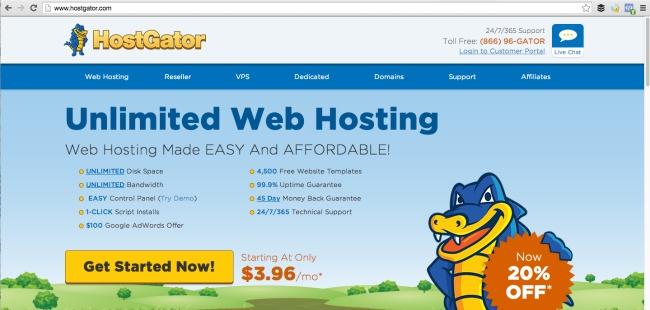 Main Page - HostGator