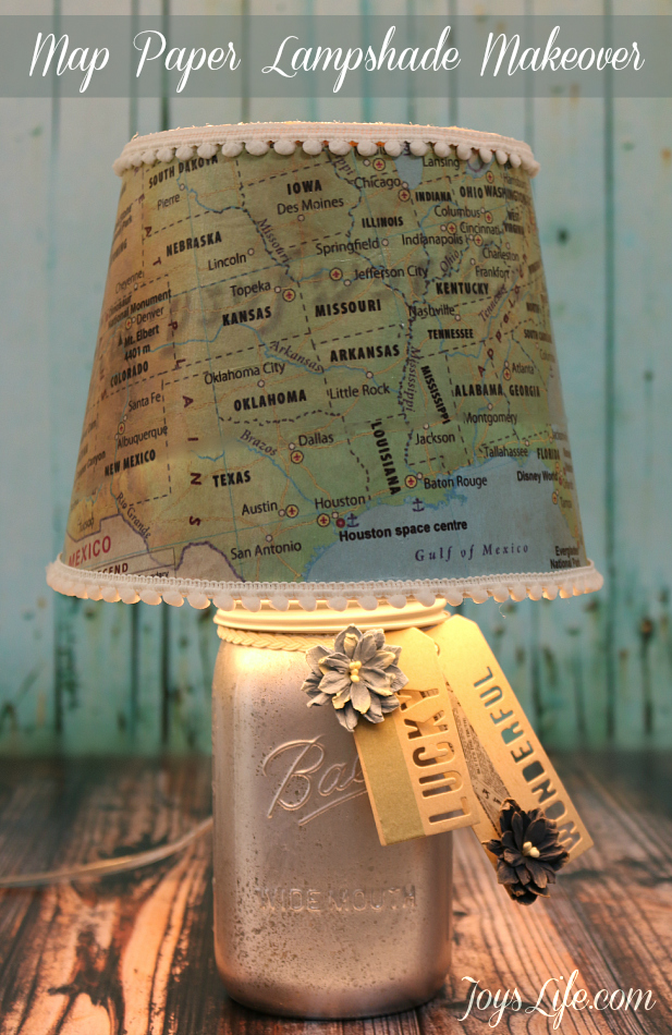 map paper lamp shade