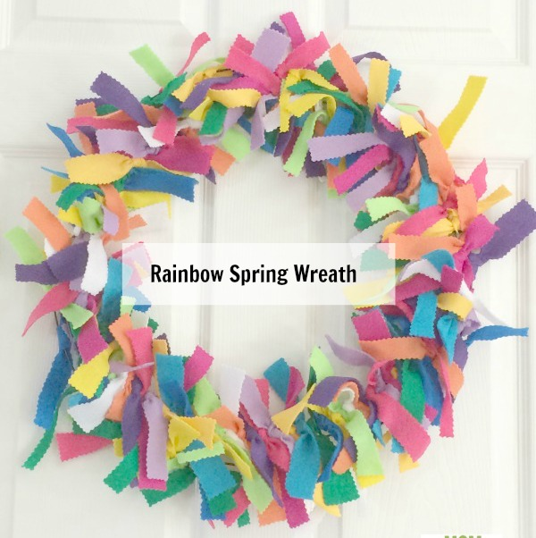rainbow spring wreath
