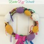 Yarn-Wrapped Easter Egg Wreath