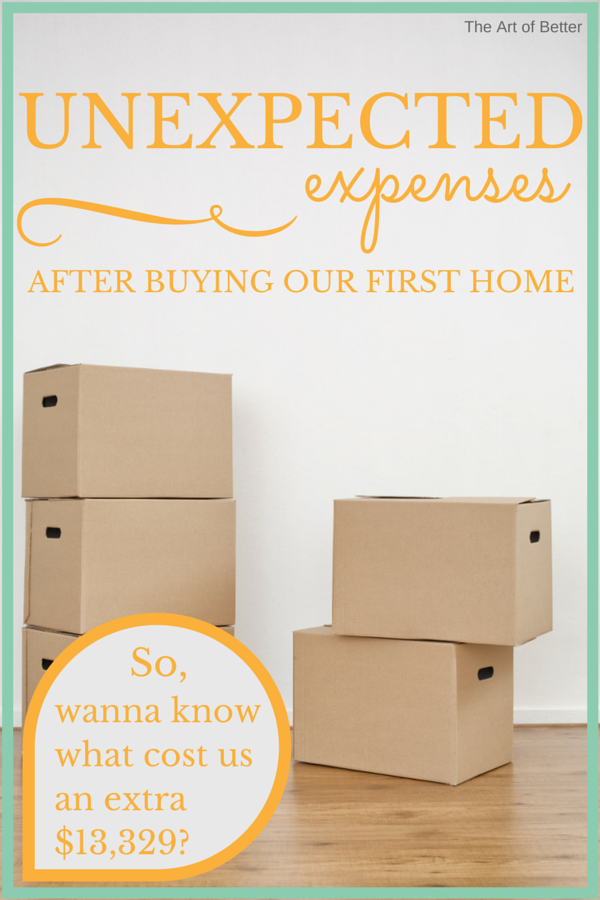 unexpected expenses when buying a new home