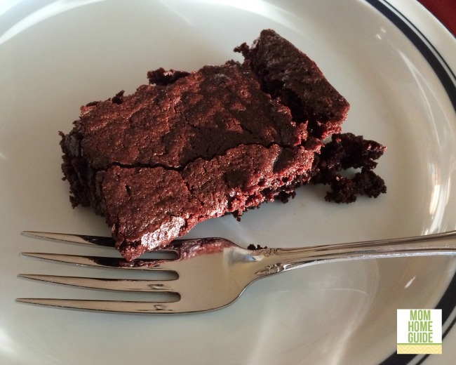 A brownie made with Better World Brownies mix.