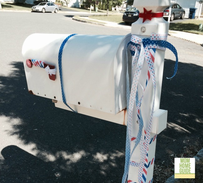 patriotic mailbox for 4th of july / fourth of july