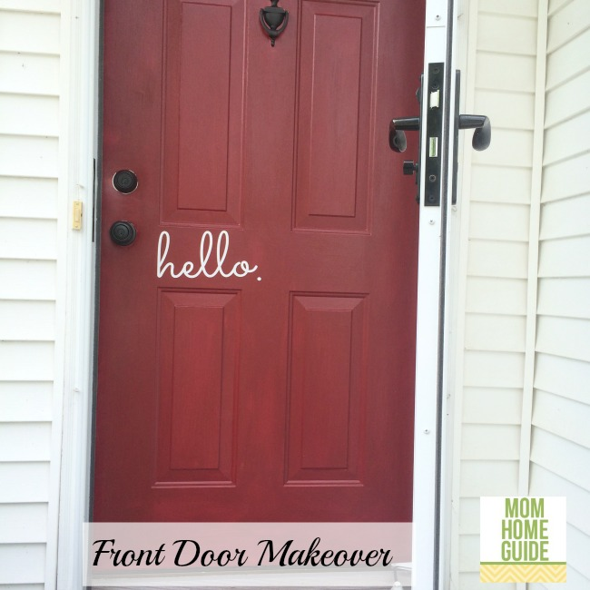 front door makeover with Modern Masters front door paint