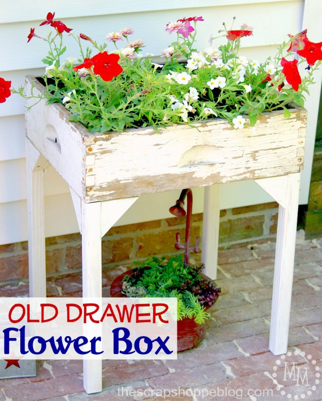 flower box from an old drawer