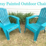 Spray Painted Outdoor Chairs