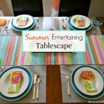 Summer Dining Room Tablescape