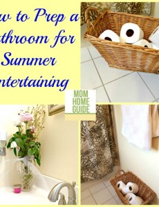 how to prep a bathroom for summer entertaining