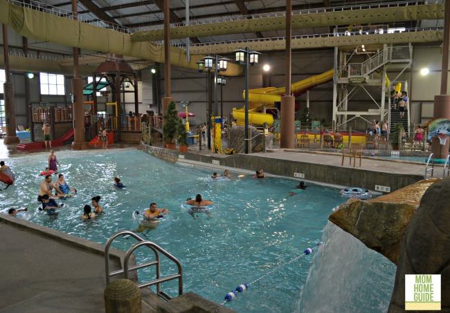 Hope Lake Lodge Cascades indoor waterpark in New York