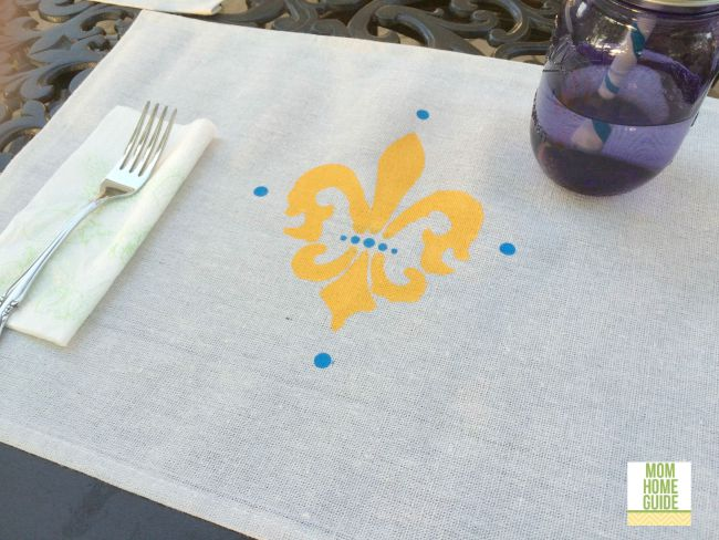 Stenciled Drop Cloth Placemat