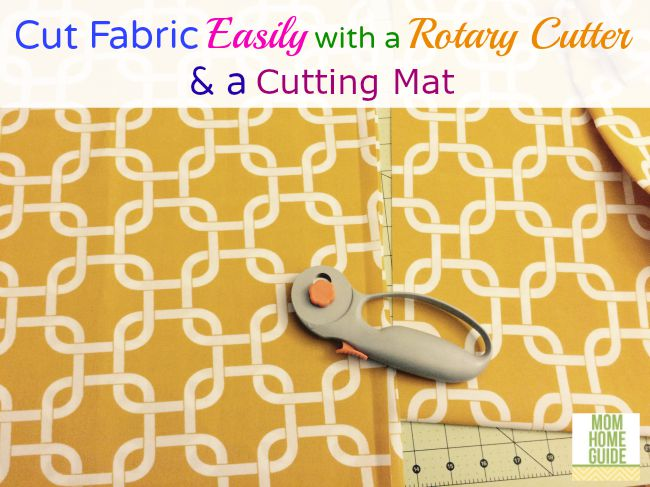 A rotary cutter and a cutting fabric makes measuring and cutting fabric easy!