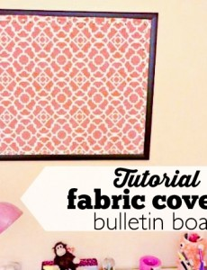 DIIY fabric covered bulletin boards