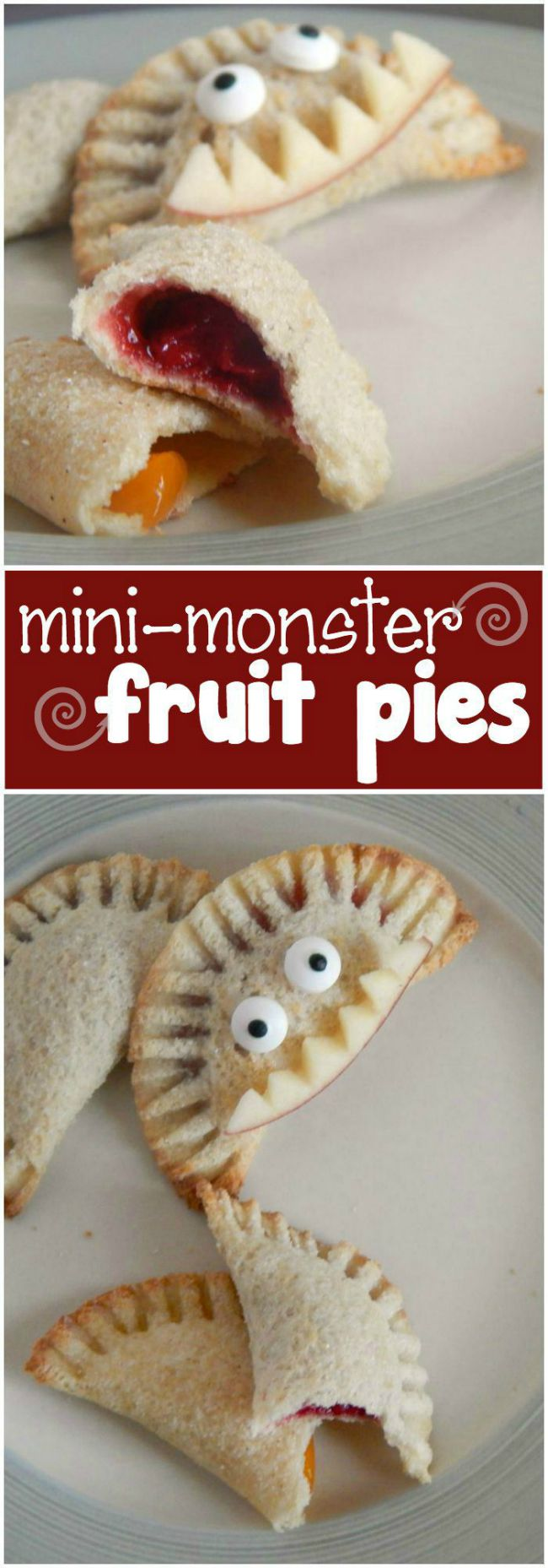 mini monster fruit pies
