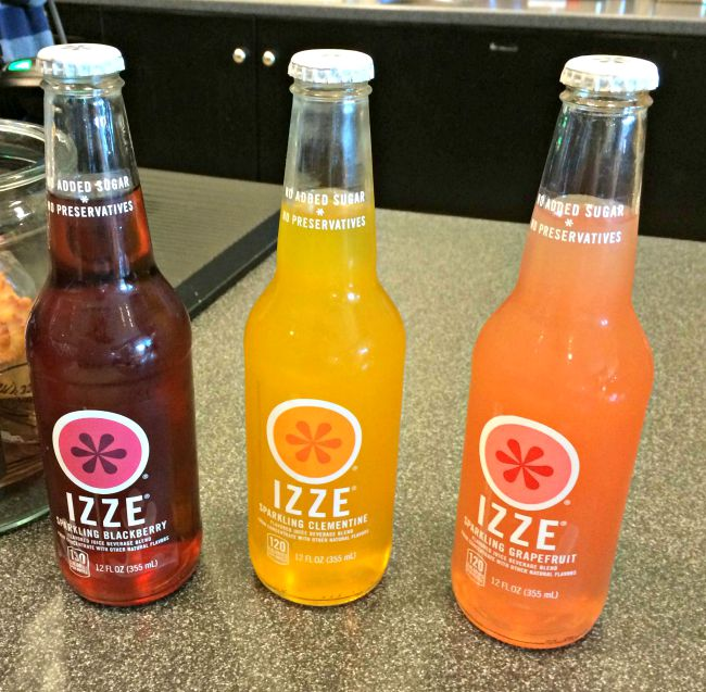 Izze sodas from Barnes and Noble Starbucks