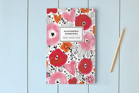 flowered day planner