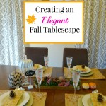 Holiday Craftacular Link Party: Elegant Fall Tablescape