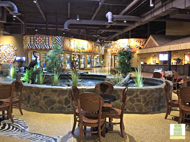 Beautiful lobby at Kalahari Resorts & Convention Center in the Poconos