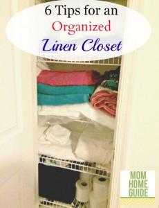 6 tips for an organized linen closet
