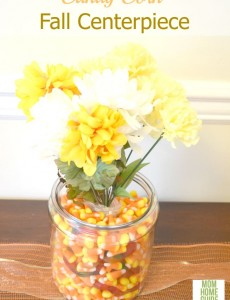 candy corn vase centerpiece