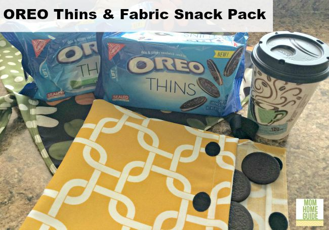 OREO Thins with a DIY reusable fabric snack pack. #shop