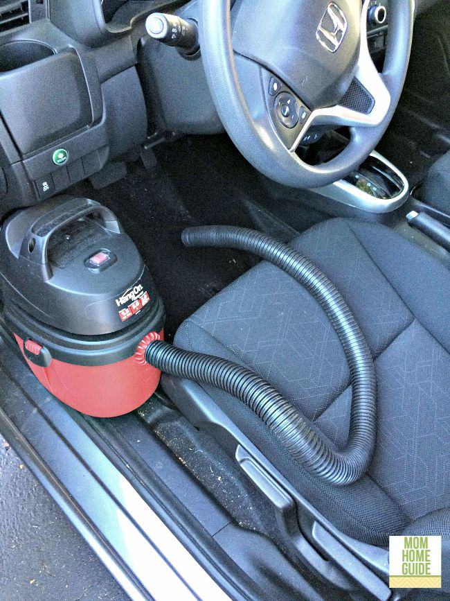 To clean the interior of my car, I like to use a wet dry car vac.