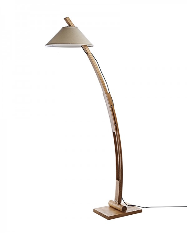 This arc floor lamp would be a great reading lamp for my home's living room!