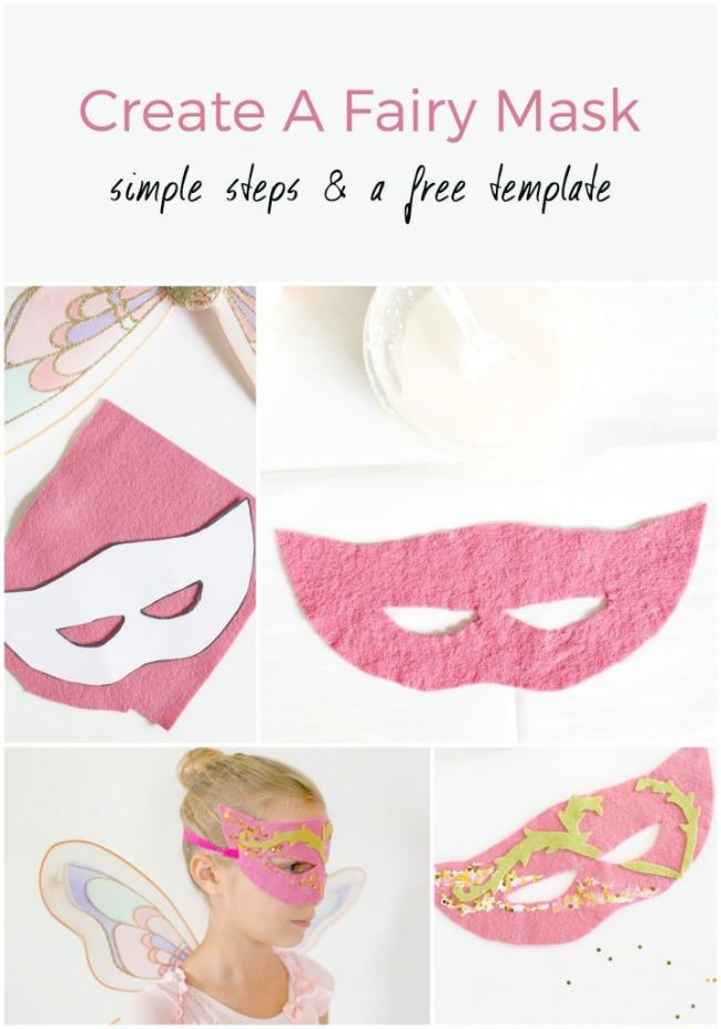 Holiday Craftacular fairy mask collage