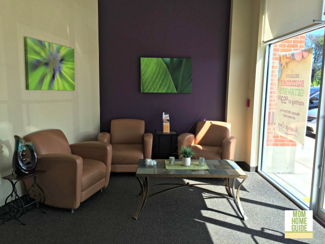 A lovely sitting area at the Massage Envy in Robbinsville, NJ
