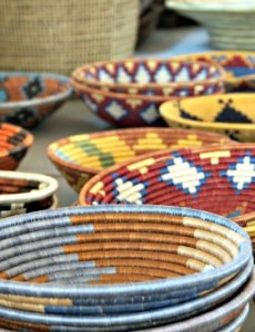 These beautiful baskets are sold at Macy's and help women and their families in Rwanda.