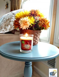 I adore the scent of the Air Wick Spiced Apple Crumble Scented candle. It's perfect for Thanksgiving!
