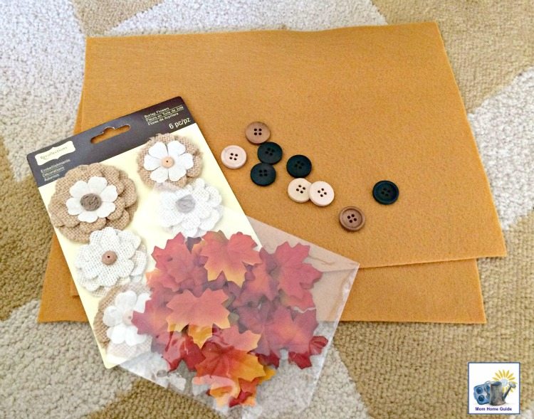 Just a few inexpensive supplies are needed to make a quick and easy fall pillow!