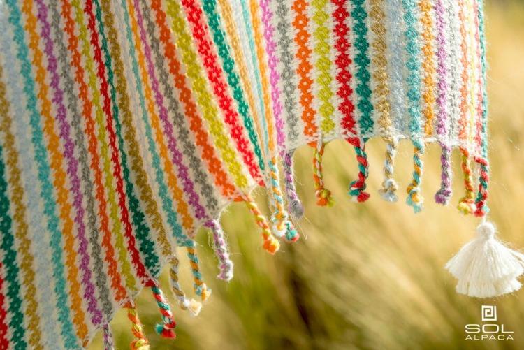 A beautiful Sol Alpaca scarf, woven from all natural fibers in Peru