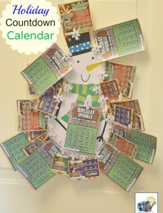 NJ lottery ticket holiday countdown calendar -- a fun countdown calendar for adults!