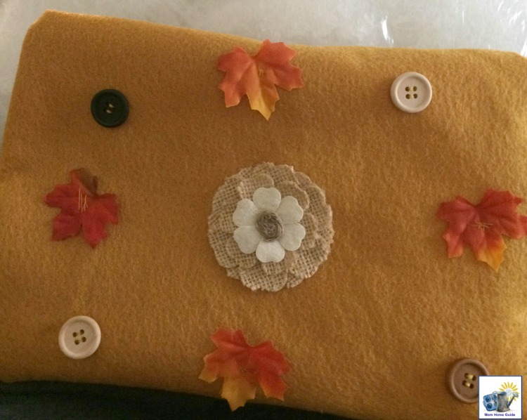 Easy tutorial on how to sew a simple fall pillow