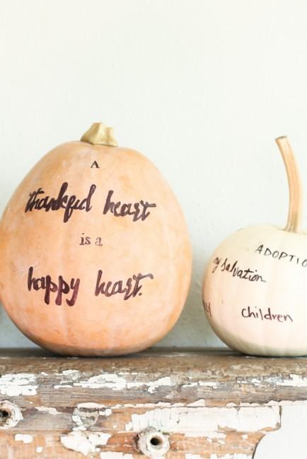 Thankful pumpkin craft project