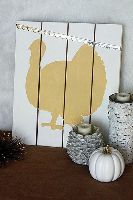 DIY turkey pallet sign