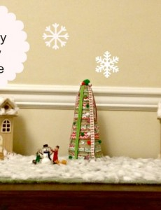 A simple and inexpensive DIY holiday snow village for Christmas! I always wanted one of these!