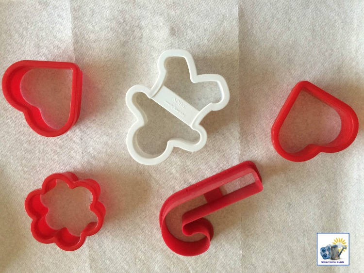 red and white holiday cookie cutters
