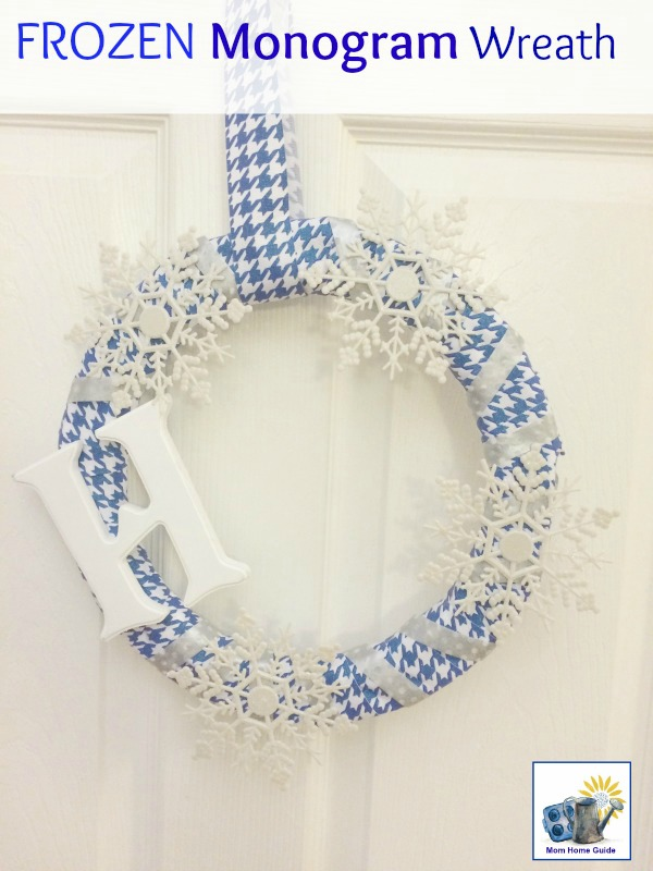 winter monogram wreath