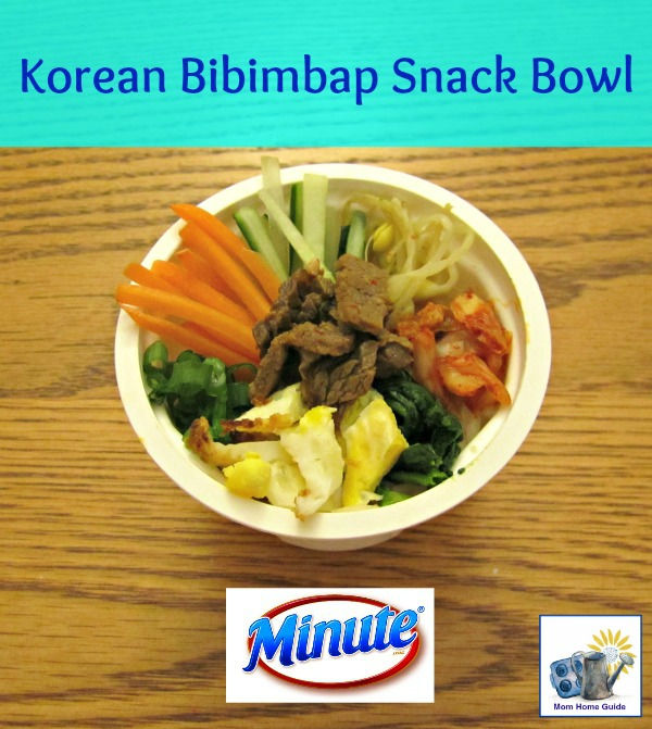 Korean bibimbap bowl recipe