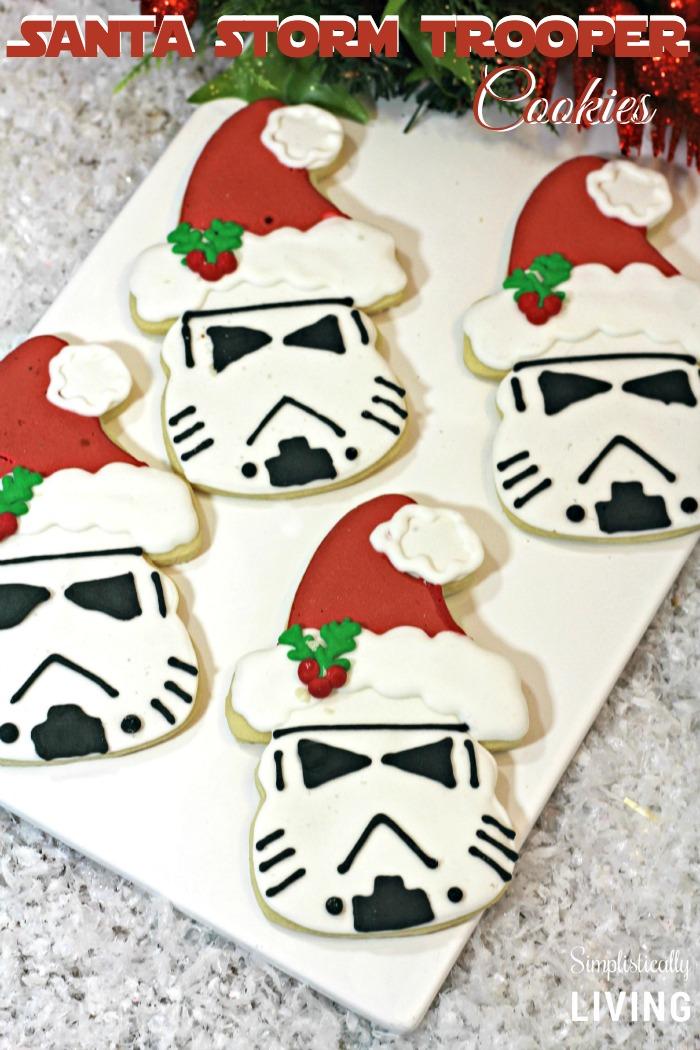 Storm Trooper Santa cookies